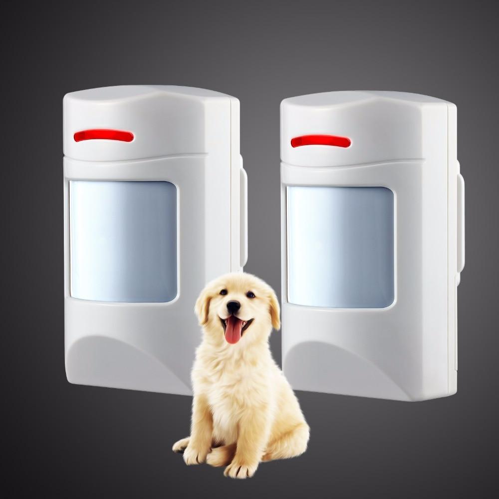 Kerui Wireless 433Mhz Pet Immune Motion PIR Detector 2 PCS For  Security Home GSM Alarm System Security Anti-pet Immunity