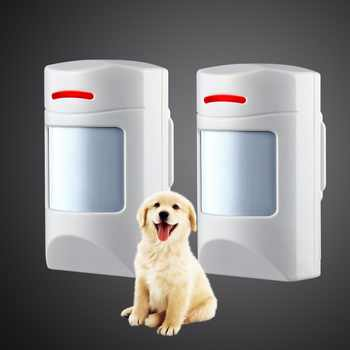 Wireless 433Mhz Pet Immune Motion PIR Detector 2 PCS For  Security Home GSM Alarm System Security anti-pet immunity - DISCOUNT ITEM  13% OFF All Category