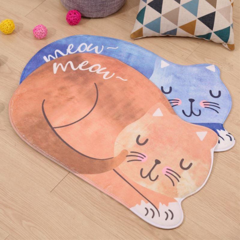3 Sizes Sleeping Cat Entrance Doormats Door Mat 3D Printed Carpet Living Room Bedroom Anti-slip Floor Mats Kitchen Rugs T35