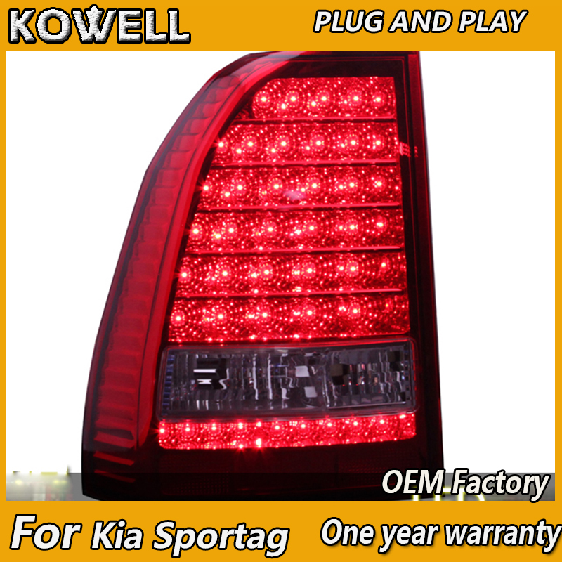 KOWELL Car Styling For Kia Sportage 2007 2008 2009 2010 2011 2012 Year Taillamp LED Rear Lights DRL Siginal Parking Reverse