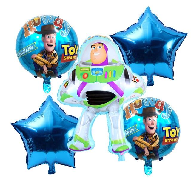 Floresta de julho Frete grátis 5 pçs/lote carro do brinquedo das crianças tema da festa de aniversário decoração de balões de alumínio Conjunto de Toy Story