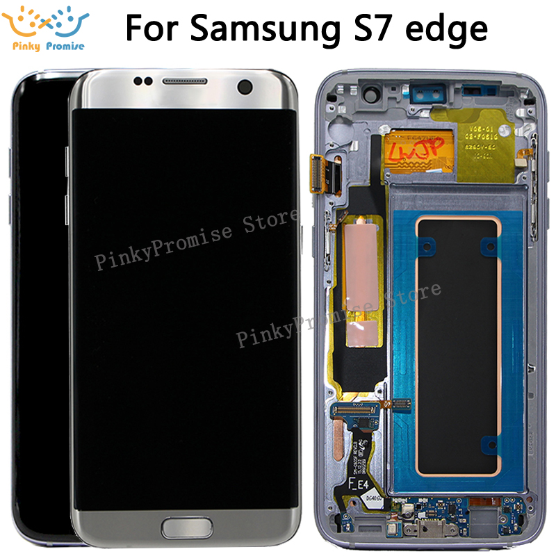 For SAMSUNG GALAXY S7 EDGE G935 G935F LCD Display Touch Screen Digitizer 5 5 For Samsung