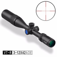 Discovery Optics VT R 3 12X42 AOE Hunting Riflescope With Red/Green Mil Dot Reticle Airsoft Scope