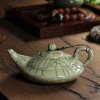 GRANDNESS New Hot Sale Crackle Glaze Ge Kiln Longquan Celadon Longquan Teapot 300ml Celadon Longquan