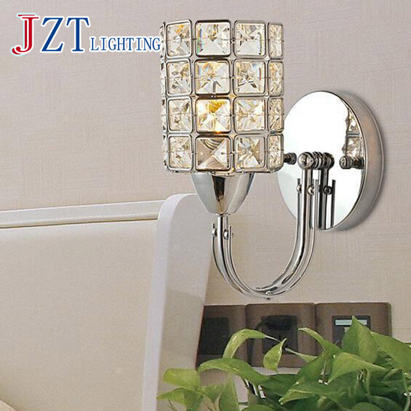 GETOP Modern Crystal Wall Lamps E14 LED Crystal Wall Lamp Bedside lamps Living room Bedroom Corridor Lights Home Light