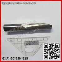 20*65H * 115L Carbide CNC Frezen Single Fluit Gereedschap  een fluit spiraal bits (EEN) EEN serie-in Frees van Gereedschap op