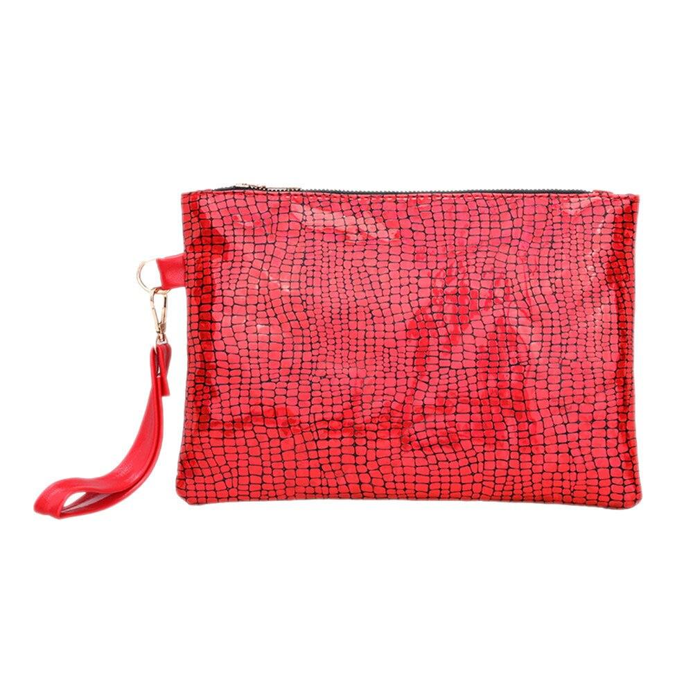 Kupplungen Gepäck & Taschen Rational Sleeper #5002 2018 Neue Frauen Bunte Verfärbung Handtasche Qualität Kupplung Geldbörse Mode Zubehör Handtasche Rot Kostenloser Versand