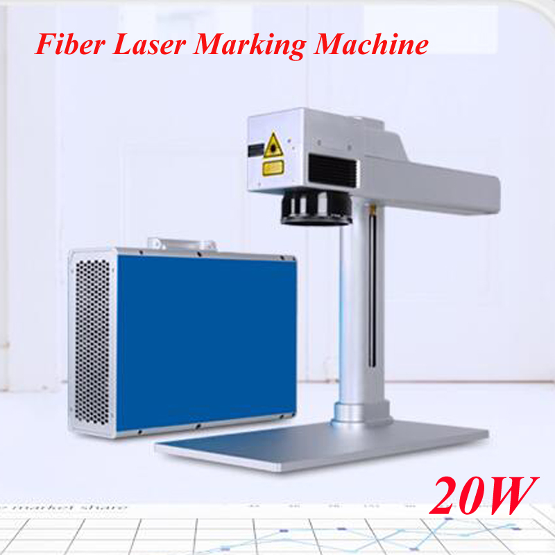 Freeby DHL AS 20 Portable Optical Fiber Laser Marking Machine 20W Radium Engraving Machine Stainless Steel