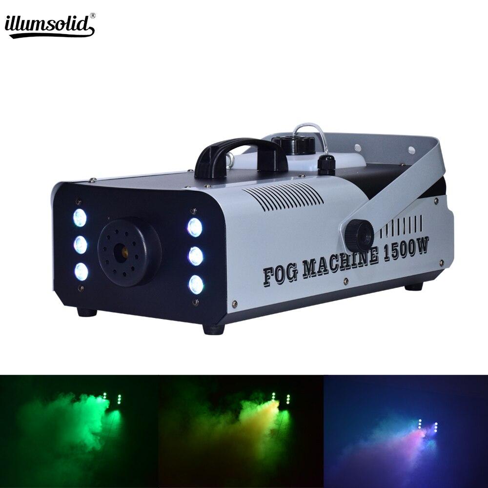 1500 W RGB 3IN1 дым машинный с дистанционным управлением насос для дым машины диско DJ на вечерние Свадебные Рождество генератор дыма машины