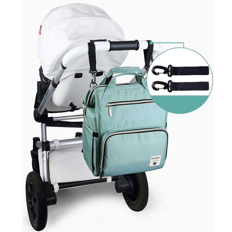 Insular marca nova grande capacidade multifuncional mãe saco à prova dwaterproof água poliéster fralda mochila caqui cinza produtos do bebê