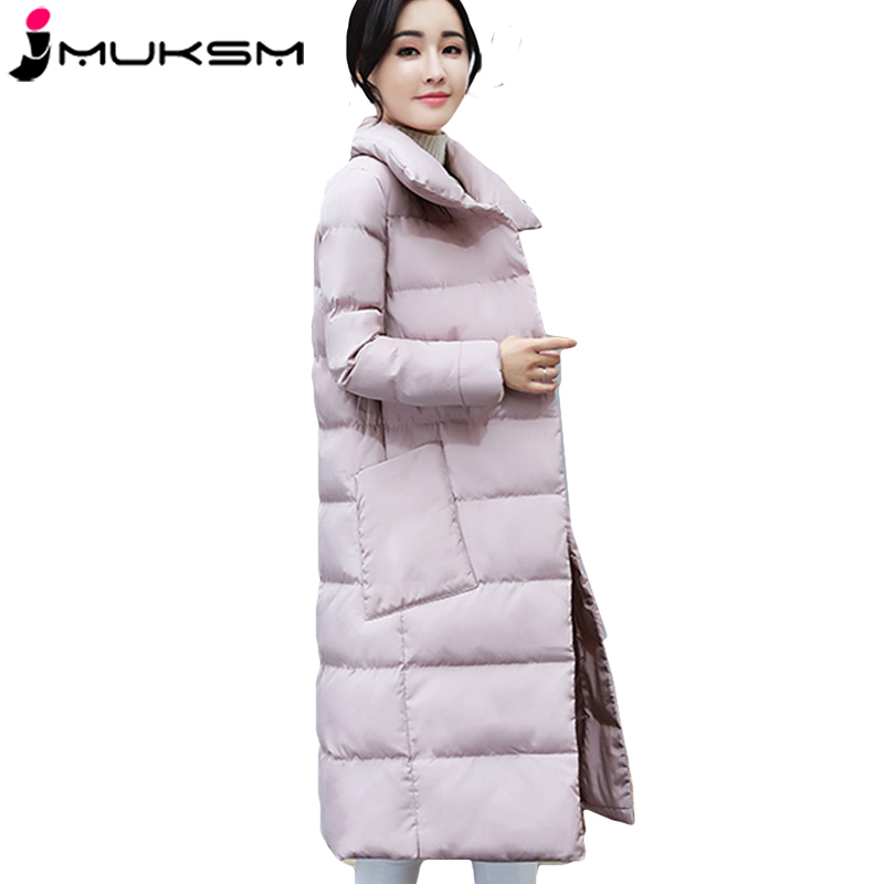 Women Winter Cotton   Parka   Style Jackets Coat Long Large size Jacket Female Fashion Thicker Warm Outerwear Jaqueta Feminina J346