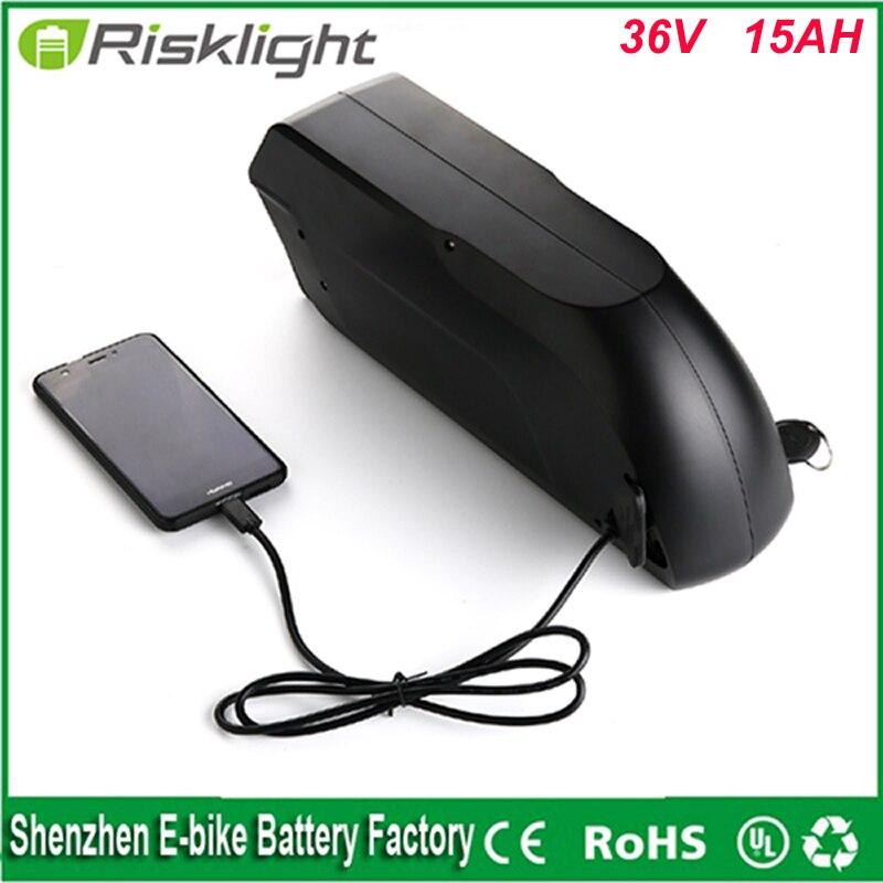 Tigershark DS-5 frame аккумулятор 36 В <font><b>15Ah</b></font> Электрический велосипед downtube литиевая батарея с зарядным устройством и 5 В USB подходит 36 В Бафане двигателя