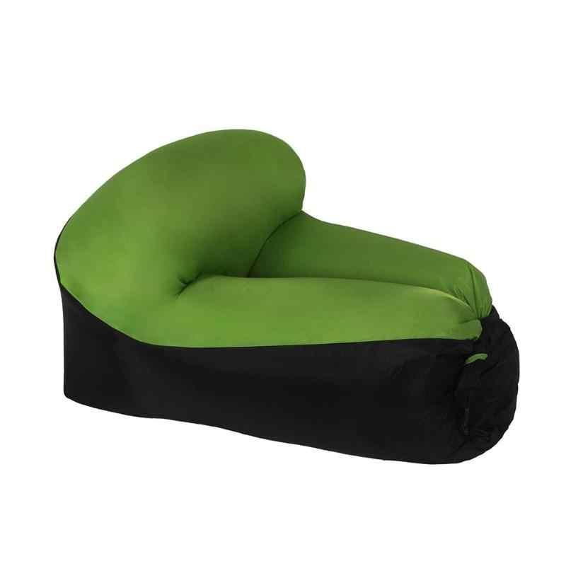 Camping Cadeira do Saco de Feijão Cadeira Do Sofá Do Ar Infaltable Cama Sofá Preguiçoso Colocar Saco de Praia Ao Ar Livre Portátil Saco de Dormir Transporte da gota