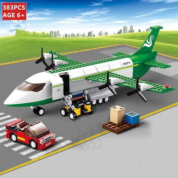 цена на Mini Size City Airplane Building Blocks Set Air Bus Airplane Blocks Model Aircraft Planes DIY Figures Bricks Toys for Children
