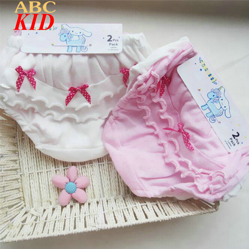 1 pcs Retail Sweet Bow Lace Shorts Baby Girl Underwear Cotton Quality Calcinhas Girls Underwear Kids