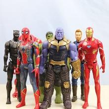 The AvengerToys 29CM  Marvel Super Hero Thor Captain America Wolverine Spider Man Iron Man Hulk PVC Action Figure Toy Dolls цены