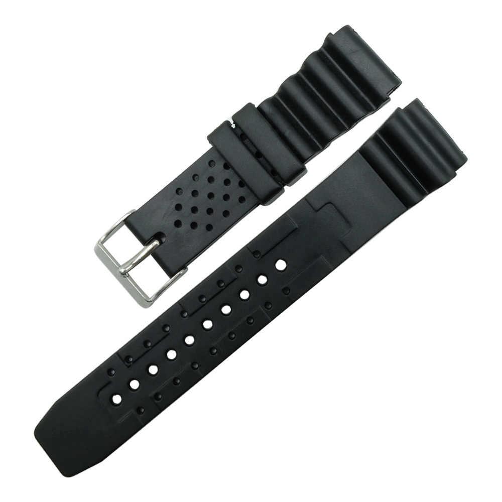 """18 מ""""מ 20 מ""""מ 22 מ""""מ שחור רצועת השעון שעון צלילה צבאי סיליקון גברים רצועת גומי ספורט שורש כף יד בנד עבור casio g-הלם אביזרי"""