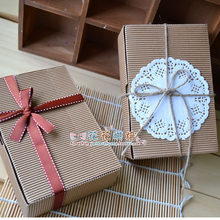 FJH011 DIY 10pcs Candy Boxes Gift Small Kraft Paper Boxes Party Wedding Bomboniere Favor Macaron Candy Boxes(China)