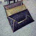 IVI Charming Women Evening Party Bags Gold Sequins Envelope Bag Purse Clutch Handbags Envelope Pattern Shiny Solid Ultrathin