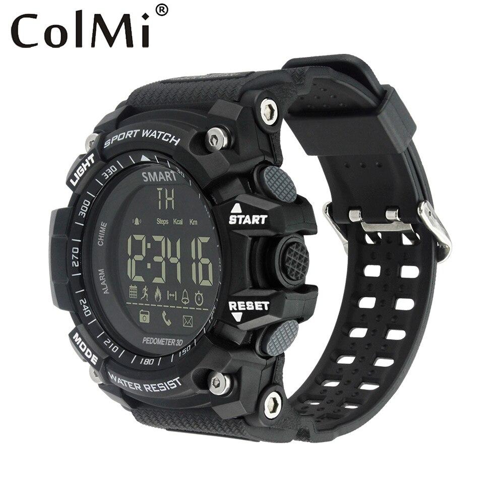 imágenes para ColMi VS505 Smartwatch Podómetro Cronómetro Calorías Quemadas Sync Llamada Mensaje BT4.0 50 m Impermeable Reloj Elegante Deporte de Notificaciones