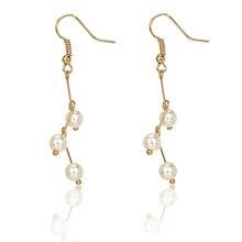 2019 Women Elegant Long Earrings Pearl Drop Ear Pendants Vintage Wedding Jewelry Ring Fashion New M17