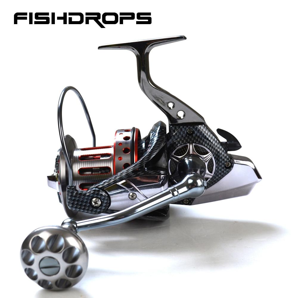 Fishdrops металлический Средства ухода за кожей барабанов большой троллинг катушка серфинга Рыбалка катушка