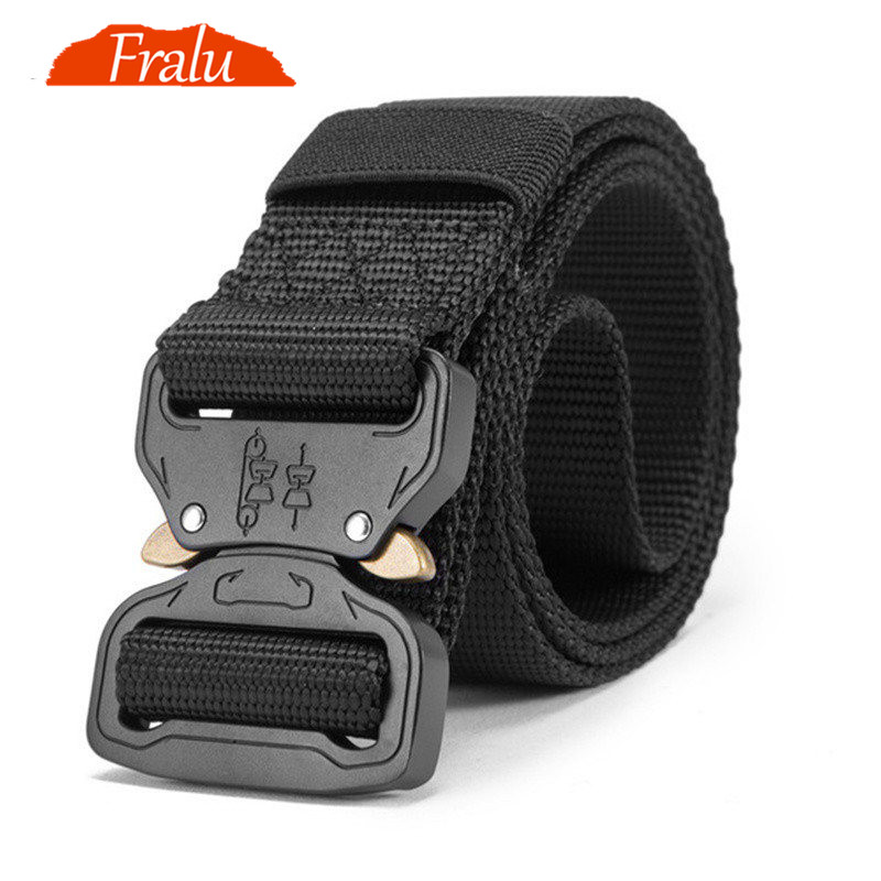 New Nylon Belt Men Army Tactical Belt Molle Military SWAT Combat Belts Knock Off Emergency Survival Waist Tactical Gear Dropship(China)