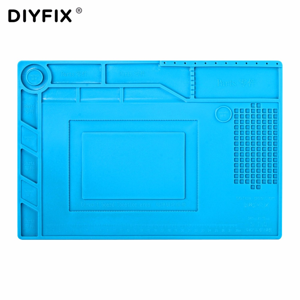 DIYFIX S150 Magnetic Silicone Pad Hot Air Gun Station Heat Resistant Insulation Desk Mat Mobile Phone BGA Soldering Repair Tool