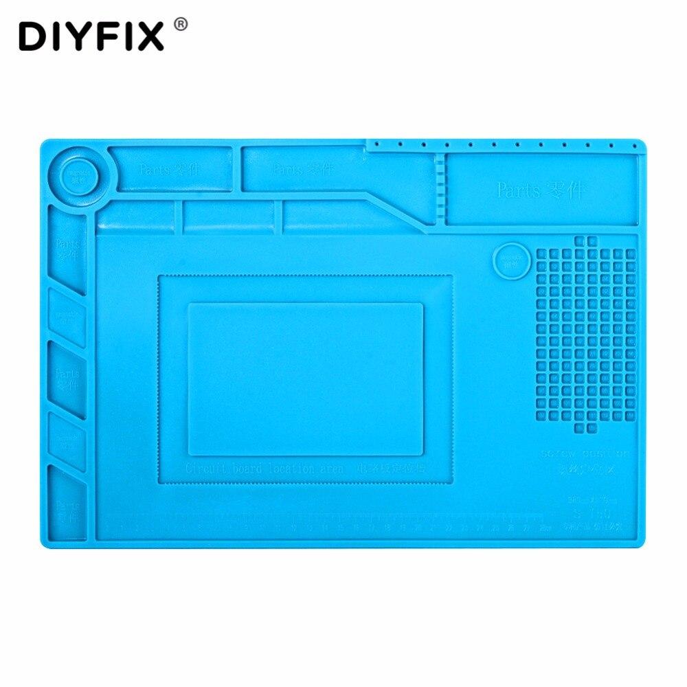 DIYFIX S150 Magnetic Silicone Pad Hot Air Gun Station Heat Resistant Insulation Desk Mat Mobile Phone BGA Soldering Repair Tool