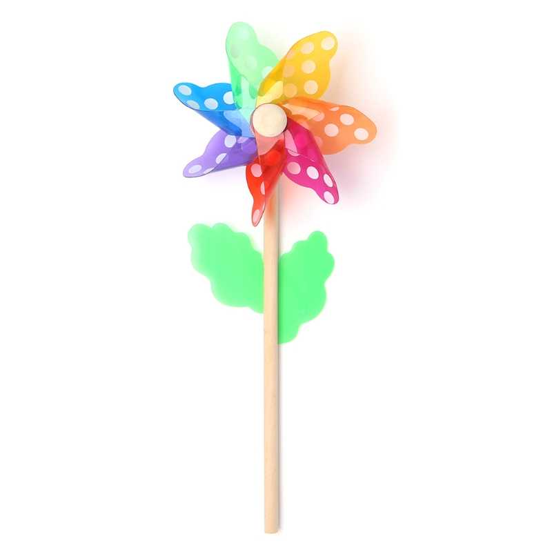 Nice Windmill Toys Children Kids Garden Decoration 7 Leaves Colorful Outdoors Spinner JUN7-A