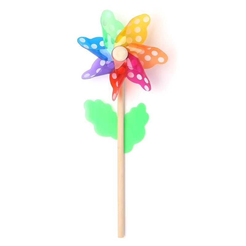 Красивые игрушки в виде ветряной мельницы, для детей, украшения сада, 7 листьев, красочные, на открытом воздухе, Спиннер, JUN7-A