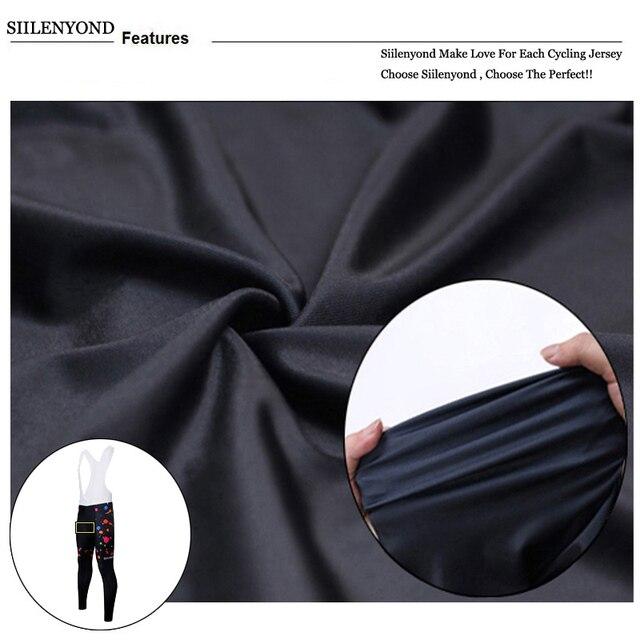 Siilenyond 2019 Women Winter Keep Warm Cycling Pants Thermal Fleece MTB Bike Cycling Trousers With Coolmax 3D Gel Padded 4