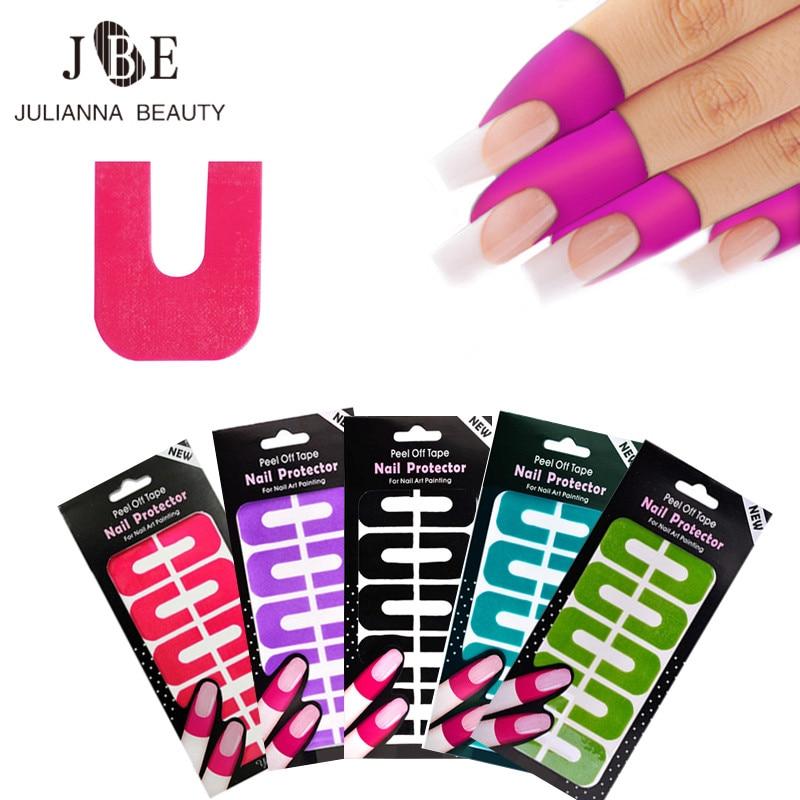 Plástico de moda Peel Off Tape Nail Art Látex Cinta Palisade Para una limpieza fácil y rápida Se utiliza con un esmalte UV Gel que estampa la placa protectora