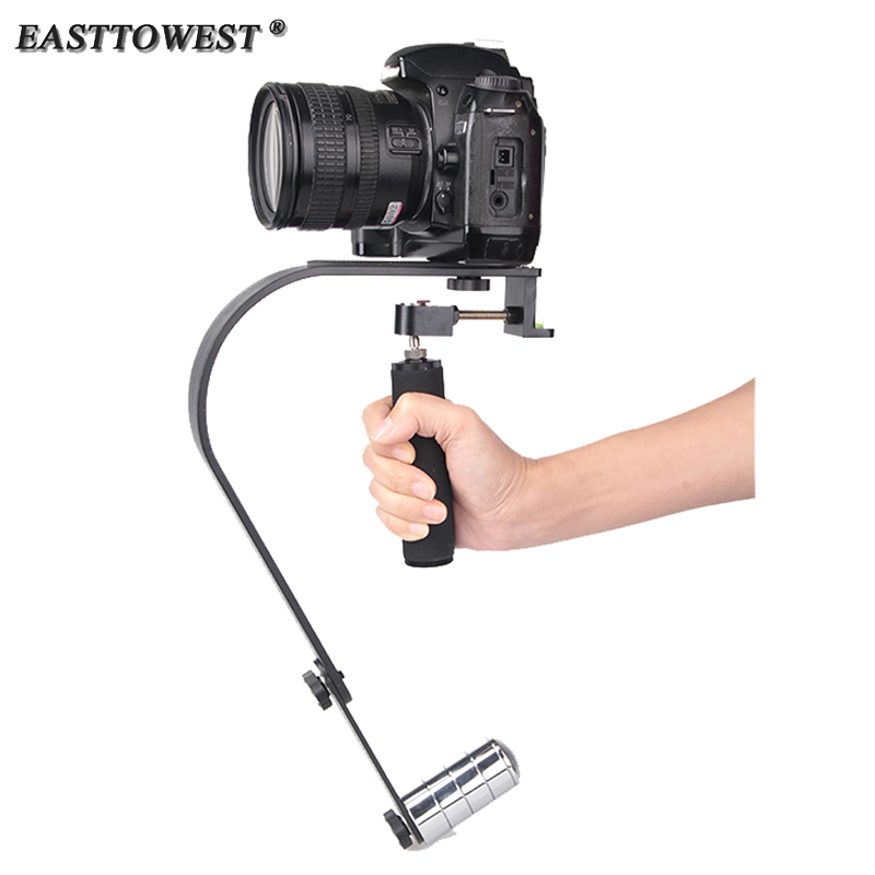 ФОТО Easttowest Handheld Camera Stabilizer Gopro Steadicam Steadycam Curve for Iphone Mobile Gopro Hero 4 3 DSLR Canon S60