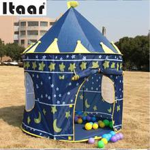 Castle Kids Baby Play Tent Playhouse Outdoor Hut Den Blue Fun Portable