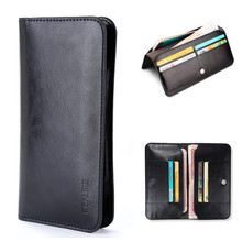 5.0'' Universal PU Leather Flip Mobile Phone Case For iPhone 5 5s 5C 6 6s xiaomi redmi 3 Huawei P8 lite Smartphone Wallet Pouch