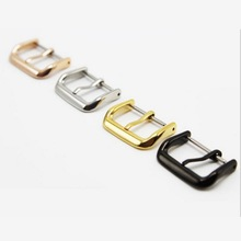 neway 316L Metal Watch Band Buckle 12 14 16 18 20 22mm Watchband Strap Silver Black Rose Gold Stainless Steel Clasp Accessories