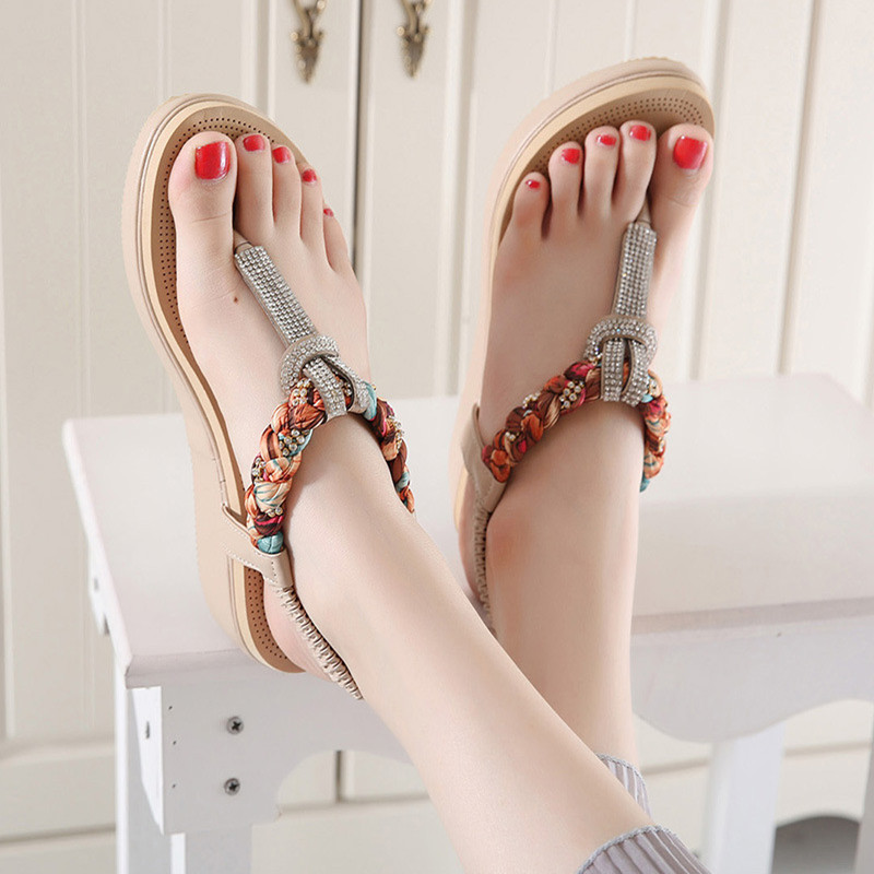 a2043d43e4a82 Aliexpress.com   Buy New Exquisite Diamond Bohemian National Rhinestone  Fashion Shoes Women Sandals Large Size Casual Shoes Summers Sandals from  Reliable ...