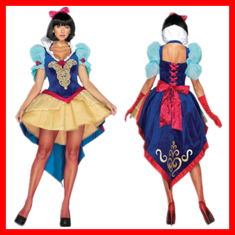 Ladies Womens Fairytale Princess Snow White Fancy Dress Costume Plus Size