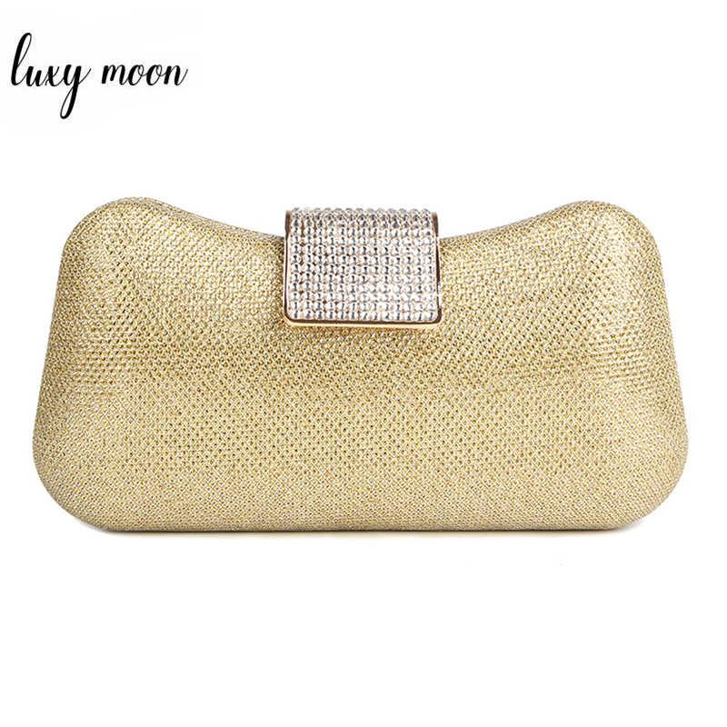 d63468cc6f33 Luxy Moon клецки Форма клатч со стразами вечерняя сумочка; BS010 клатч  вечерние портмоне Wild Дамская