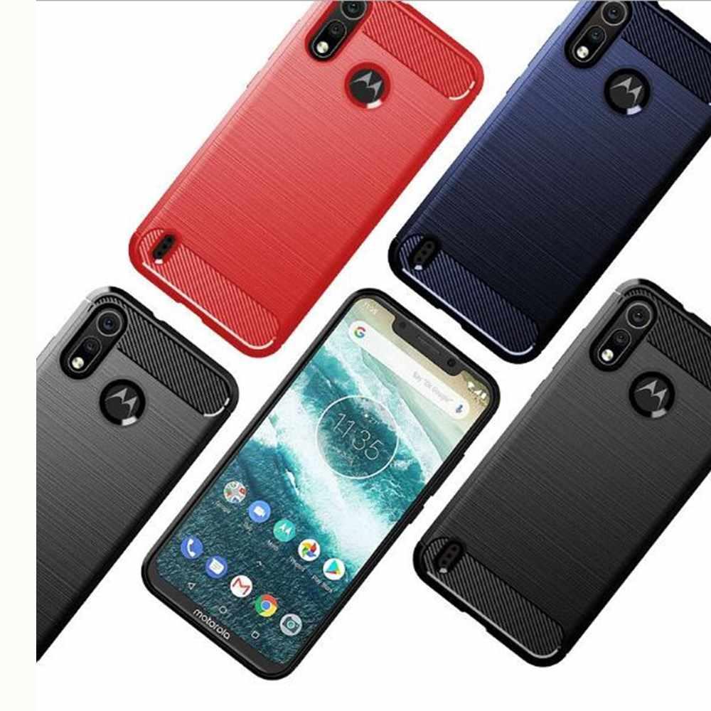 Karbon Fiber Motorola Moto için kılıf P40 Oyun Kauçuk Silikon Telefon Kılıfları Motorola Moto Z4 Oyun Bir Vizyon Case Arka