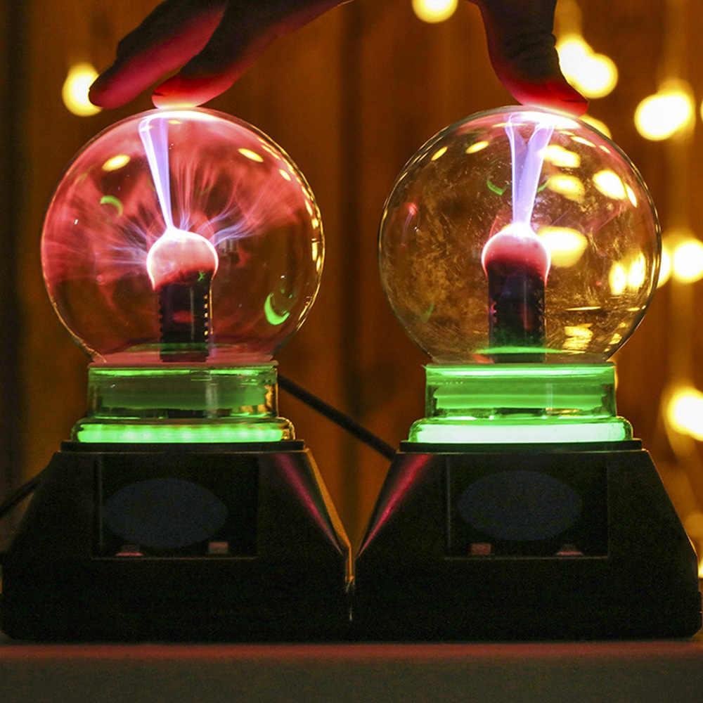Кристаллический Глобус Lightning Настольный плазменный шар Волшебный 4 дюйма