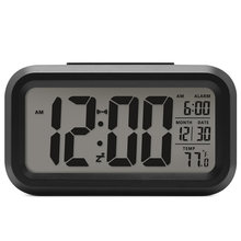 1dfaf682c البطارية الرقمية المنبه طالب ساعة كبيرة LCD عرض غفوة الاطفال ساعة ضوء  استشعار شمعة مكتب ساعة الطاولة