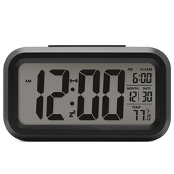 Battery Digital Alarm Clock Student Clock Large LCD Display Snooze Kids Clock Light Sensor Nightlight Office Table Clock
