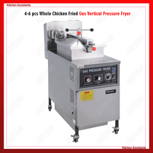 MDXZ25 Gas Commercial Pressure Fryer for frozen chickens with manual control panel
