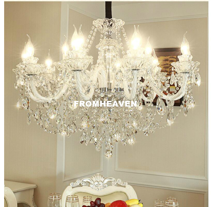 Brezplačna dostava medeni kristalni lestenec dnevna soba sijaj sala de jantar kristalni moderni lestenci razsvetljava okrasitev doma