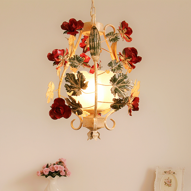 Здесь можно купить  Free Shipping Children Lighting Floral Pendant D350mm Decora Hanging Lamp Restaurants Bedroom 1L White Girl Children Lighting  Свет и освещение
