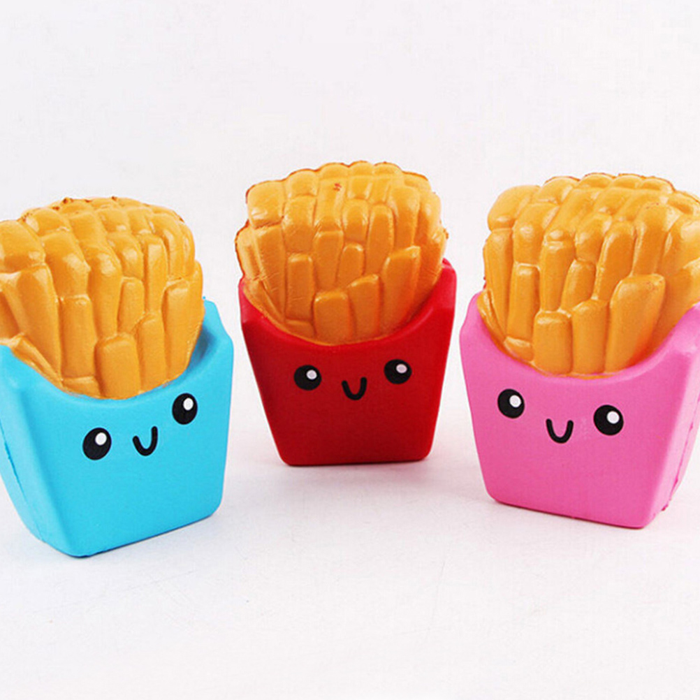 French Fries/Coffee Cup/Panda/Milk Box/ Football/Banana Slow Rising Squishy Donut Chocolate Noodles Roll Phone Charms Funny Gift