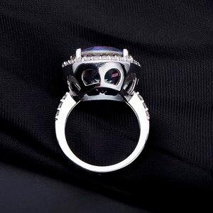 Image 4 - 보석의 발레 13.0Ct 자연 청색 신비한 석영 925 스털링 실버 칵테일 반지 여성을위한 훌륭한 보석 결혼 약혼