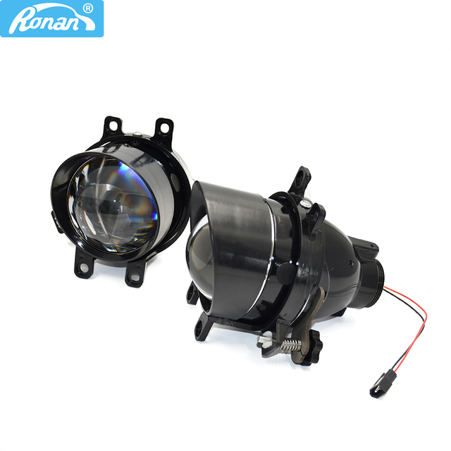 Ronan 2 قطعة ضبط أضواء الضباب ثنائية جهاز عرض مزود بإضاءة زينون عدسة ل كامري/كورولا/RAV4/يارس/اوريس/هايلاندر H11 D2H HID لمبة الملحقات